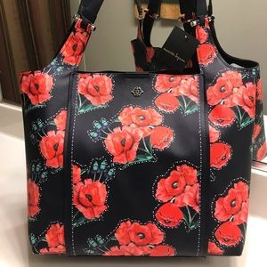 Nanette Lepore Navy & Red Shoulder Bag/Tote